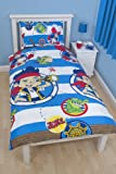 Character World 135 x 200 cm Disney Jake and The Never Land Pirates Doubloons Single Rotary Duvet Set, Multi-Color