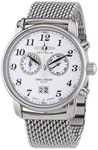 Zeppelin Men's Quartz Watch LZ127 Graf Zeppelin 7686M1 with Metal Strap