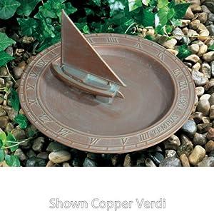 Sailboat Sundial Birdbath Finish: Oil Rubbed Bronze