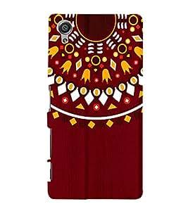 Mandela Indian Rangoli 3D Hard Polycarbonate Designer Back Case Cover for Sony Xperia X :: Sony Xperia X Dual