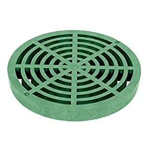 """Storm Drain FSD-040-R Round 4"""" Drain Grate - Green - Sink Strainers"""