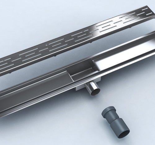 Ablaufrinne Dusche Extra Flach : Bodenablauf Flach 70 cm aus Edelstahl extra flach + Siphon komplett