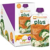 Happy Tot Organic Toddler Food Plus, Kale Apple & Mango, 4.22 Ounce (Pack of 16)