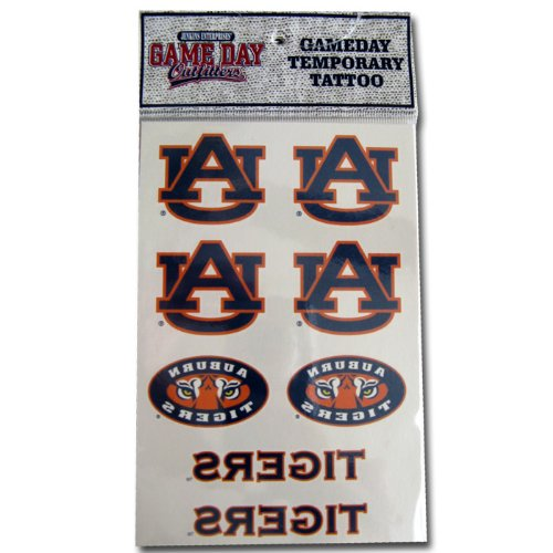 Auburn Tigers Temporary Tattoo Decals: 8 Pack - 1