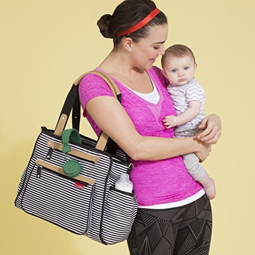 Skip Hop GRAND CENTRAL take-it-all diaper bag, Black Stripe