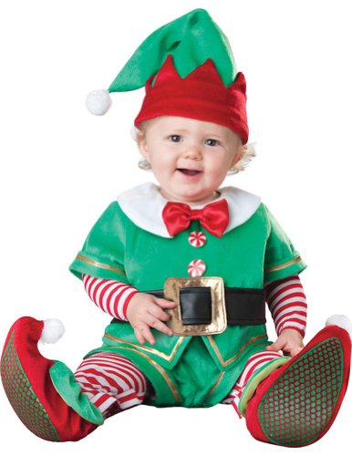 Baby-Toddler Santas Lil Elf Toddler Christmas Costume 12-18 Months