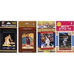 NBA Los Angeles Clippers 4 Different Licensed Trading Card Team Sets by C&I Collectables