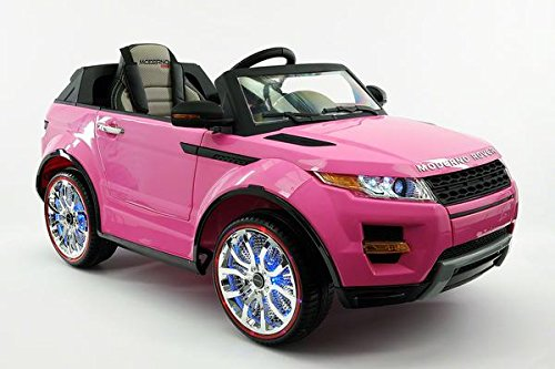 powered electric wheels battery powered ride on toy car leather seat working doors shock absorbersremote control new 2017 moderno rover sx style 12v