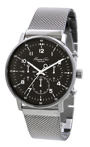 Kenneth Cole New York Men's KC9206 Dress Sport Black Dial Chronograph Mesh Watch