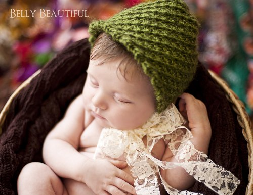 Windy Willow Bonnet Knitting Pattern - 5 Sizes Included front-255900