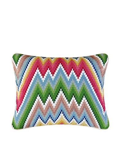 Garden Folly Needlepoint Flamestitch Pillow, Multi