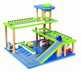 Santoys - Wooden Toys - Construction - 3 Storey Garage and Car Park