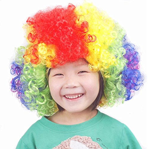Halloween Costume Colorful Clown Wigs For Children