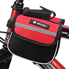 Mash Cloth Black and Red Waterproof Double Side Cycling Frame Bag