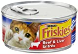 Friskies Cat Food Classic Pate, Special Diet Beef & Liver Entree, 5.5-Ounce Cans (Pack of 24)