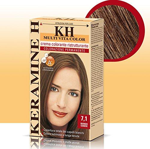 Keramine H Crema Colorante 7,1 Biondo Cenere