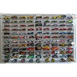 Hot Wheels Display Case Wall Cabinet108 compartment 1/64 scale, Clear, UV Protect AHW64-108