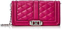 Rebecca Minkoff Mini Love Clutch, Magenta, One Size