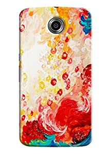 Blue Throat Colored Effect Printed Designer Back Cover/ Case For LG Google Nexus 6