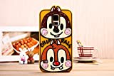 Cute Disney Cartoon Silicone Soft Back Mobile Phone Case Cover for Samsung Galaxy S5 I9600 (Chip 'n' Dale)