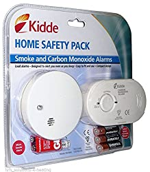 Carbon Monoxide & Smoke Detector Alarm Safety pack | Ready to use inc. Batteries from Kidde