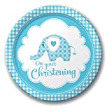 Sweet Baby Elephant Boy Plates (Pack Of 8)