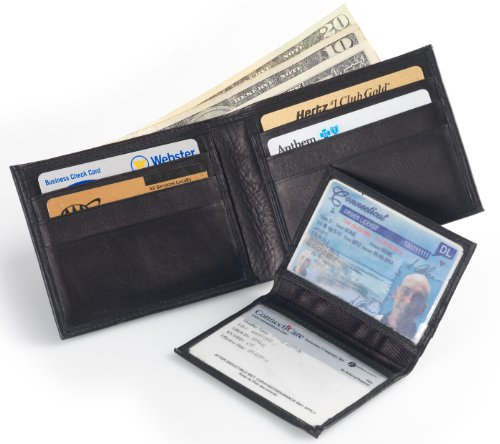 Soft Leather Bifold Wallet  Removable, Transparent