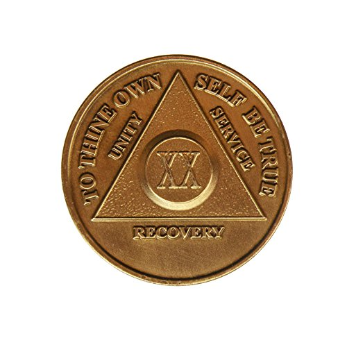 20 Year Bronze AA (Alcoholics Anonymous) - Sober / Sobriety / Birthday / Anniversary / Recovery / Medallion / Coin / Chip