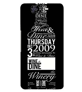 Printvisa Wine Bottle With Quotes Back Case Cover for Micromax Canvas Knight A350