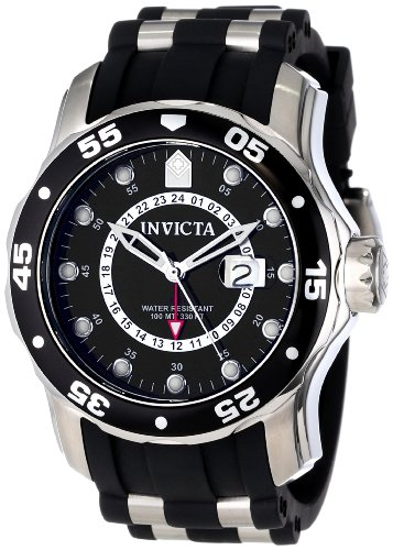 Invicta Men's 6987 Pro Diver Collection GMT Black Dial Black Polyurethane Watch