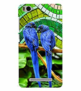 PrintVisa XMI4C-Birds Parrot Colorful Plastic Back Cover (Multicolor)