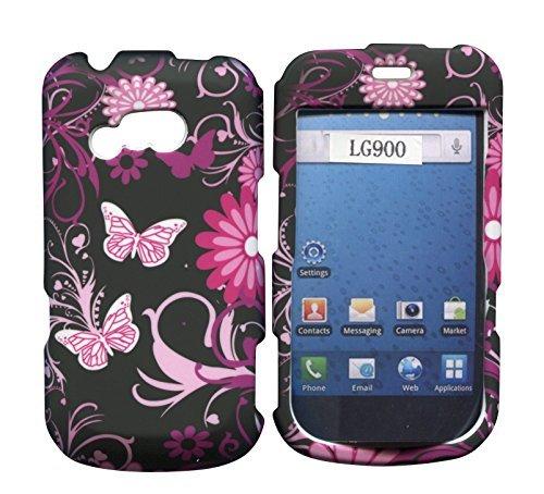 rosa-schmetterlinge-lg-900-g-gerade-talk-net-10-tracfone-schutzhulle-hard-case-snap-on-cover-gummier