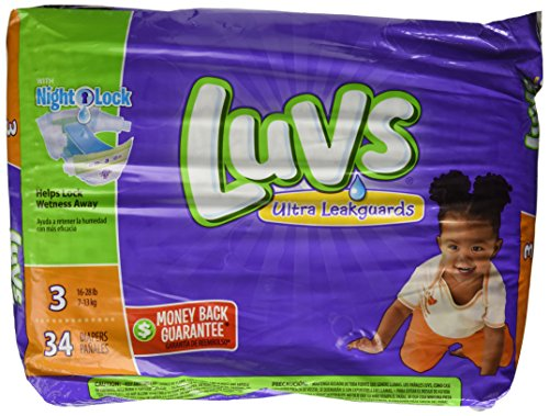 Luvs with Ultra Leakguards, Size 3 Diapers, 34 ea - 1