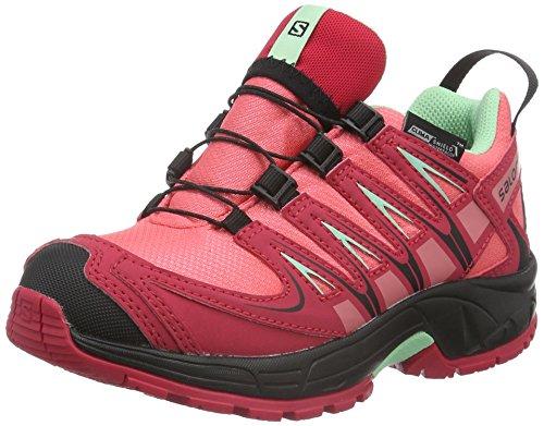 Salomon XA Pro 3D, Scarpe da Trail Running Unisex - Bambini, Rosa (Madder Pink/Lotus Pink/Lucite Green), 35 EU