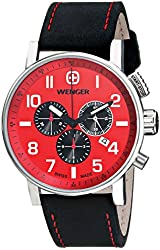 Wenger Men's 01.1243.103 Commando Chrono Analog Display Swiss Quartz Black Watch