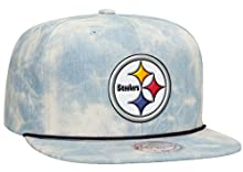 Pittsburg Steelers NFL Lite Acid Wash Denim Snapback Cap by Mitchell & Ness