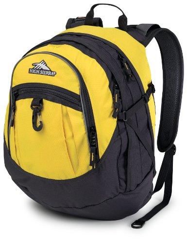 High Sierra Fat Boy Backpack, Yell-O/Mercury, 19.5 x 13 x 7-Inch