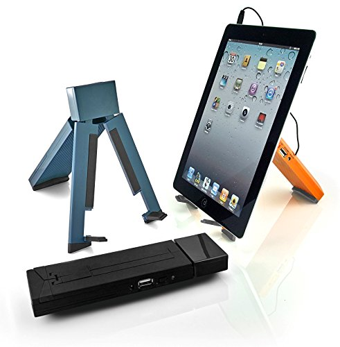 Eric Beare Trio Folding Portable Tablet Stand with Built in Speaker: USB or Battery Powered eric cantona