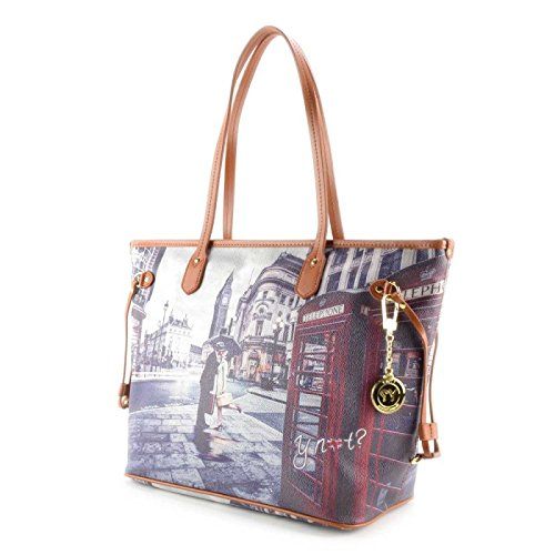 Borsa Shopping grande Y Not - G319 Romantic London