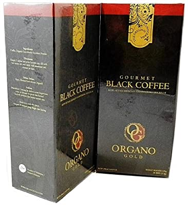 2 Boxes Organo Gold Gourmet Black Coffee - 60 Sachets by Organo Gold