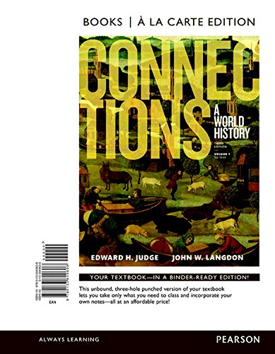 Connections: A World History, Volume 1, Books a la Carte Edition Plus REVEL -- Access Card Package (3rd Edition) (Connections A World History Vol 1 compare prices)
