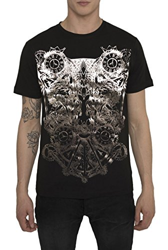Mens Designer Metallic Fashion White, Black T Shirt Rock Band Style Prints - WARFARE DESIGNS - Exceptional Quality 100 % Cotton Jersey Tee Shirts - Crew Neck Short Sleeve Trendy Gold, Silver Tops For Men