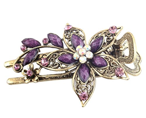 Leegoal Vintage Jewelry Crystal Hair Clips Hairpins- For Hair Clip Beauty Tools