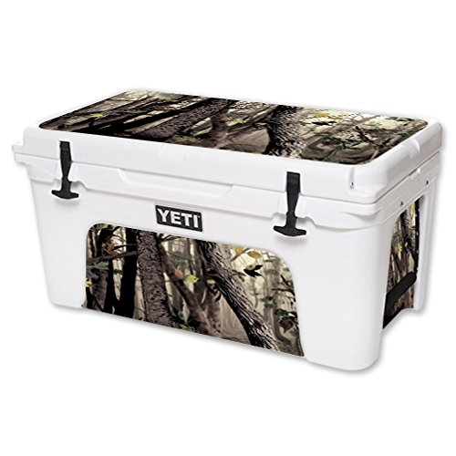 MightySkins Protective Vinyl Skin Decal for YETI Tundra 65 qt Cooler wrap cover sticker skins Tree Camo (Camo Wrap For Yeti Cooler compare prices)