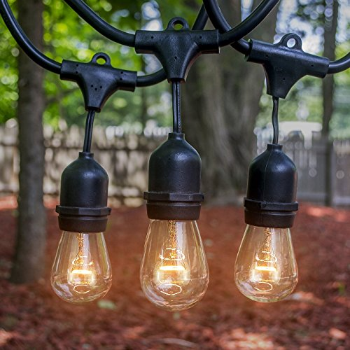 Heavy Duty Outdoor String Lights Led : LED Concepts Outdoor & Indoor Edison Style String Lights Commercial Grade Heavy Duty ...