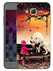 """Humor Gang Cute Girl And Fox Printed Designer Mobile Back Cover For """"Samsung Galaxy j2"""" (3D, Matte, Premium Quality Snap On Case)"""