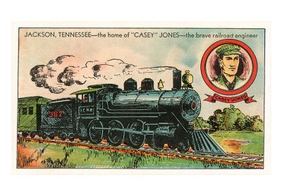 Jackson, Tennessee, Home of Casey Jones ~ Print
