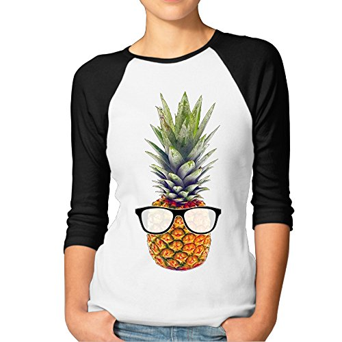 cool-pineapple-with-sunglasses-baseball-tees