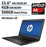 HP Pavilion 15 2016 New Model 15.6-inch High Performance Laptop, AMD Quad-Core A6-5200 Processor, 4GB RAM, 500GB HDD, HDMI, DVD/CD Drive, Webcam, Wifi, Windows 10 64bit