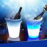 Homecube® Rechargeable Remote Control Color Changing 54 LED Light Up Champagne Beer Ice Bucket for Bar KTV Party Celebration